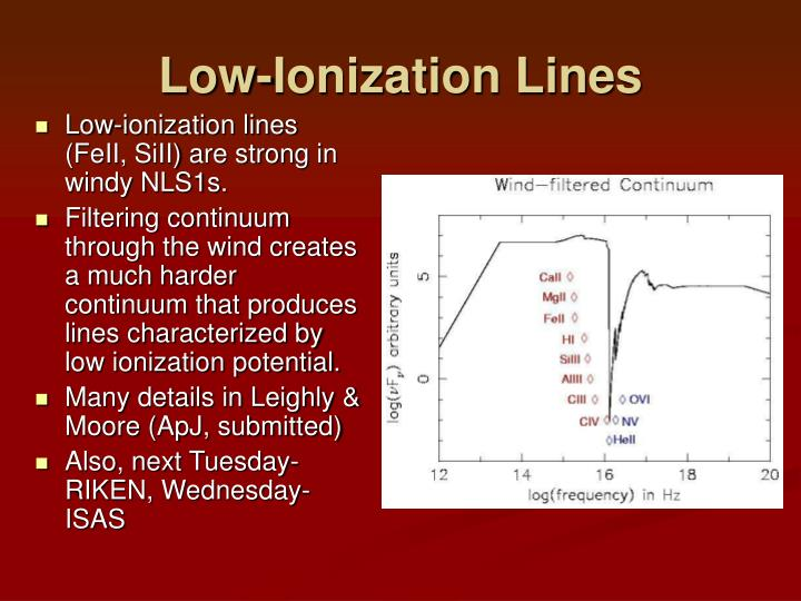 Low-Ionization Lines