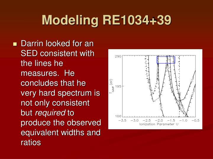 Modeling RE1034+39