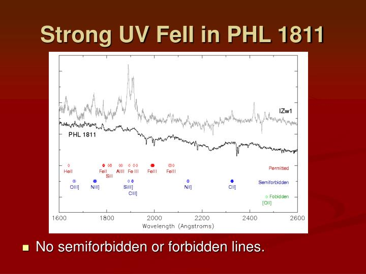 Strong UV FeII in PHL 1811