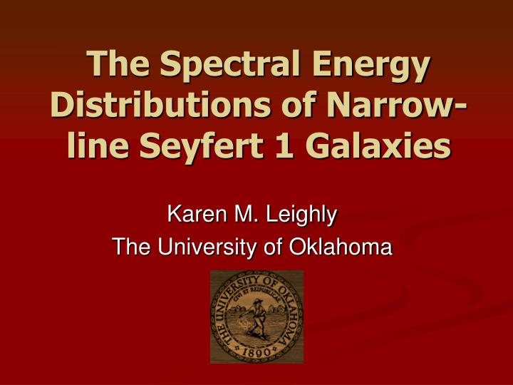 The spectral energy distributions of narrow line seyfert 1 galaxies