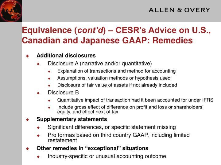 Equivalence (