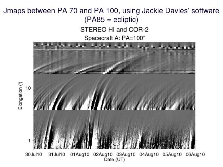 Jmaps between PA 70 and PA 100, using Jackie Davies' software