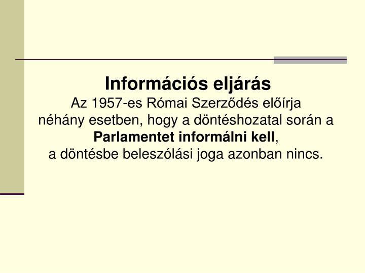 Információs eljárás