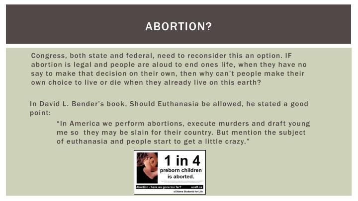 Abortion?