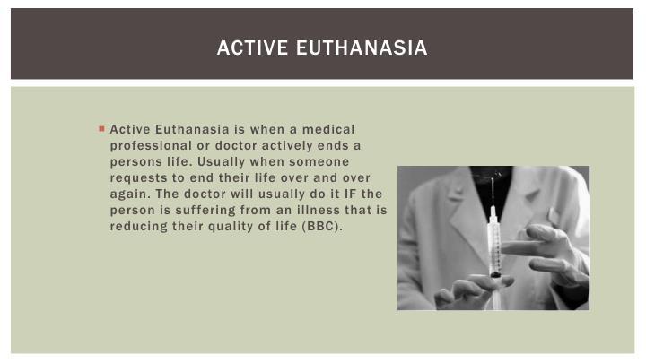 Active euthanasia