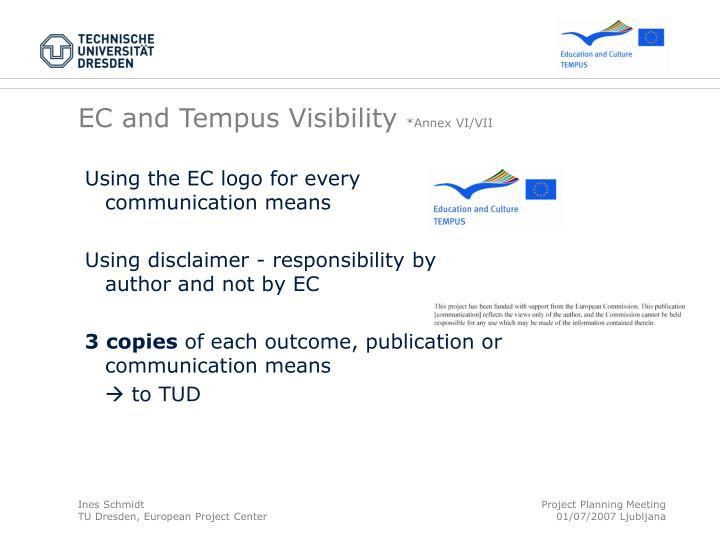 EC and Tempus Visibility
