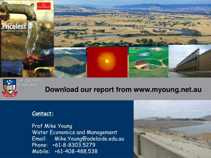 Download our report from www.myoung.net.au