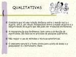 qualitativas