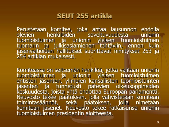 SEUT 255