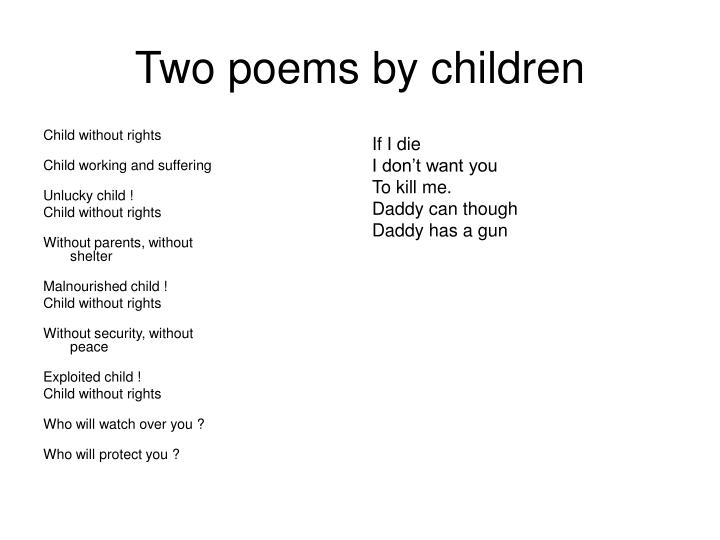 Two poems by children