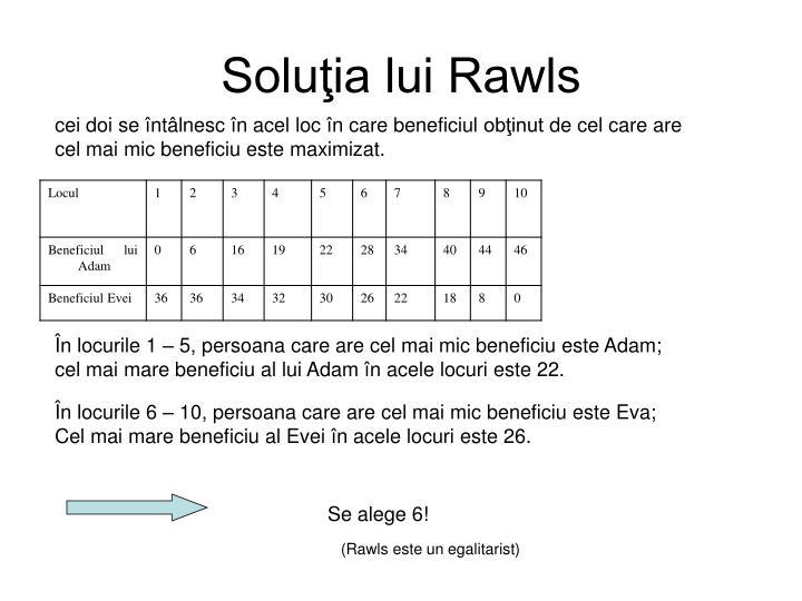 Soluţia lui Rawls