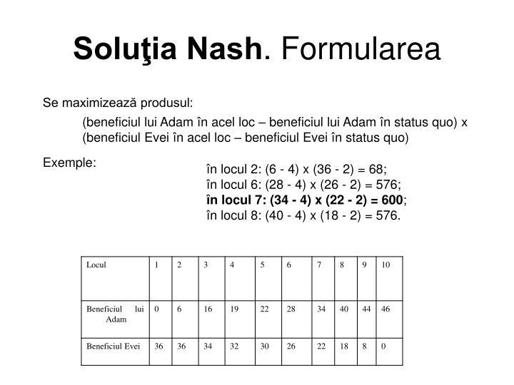 Soluţia Nash