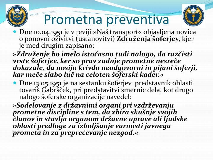 Prometna preventiva