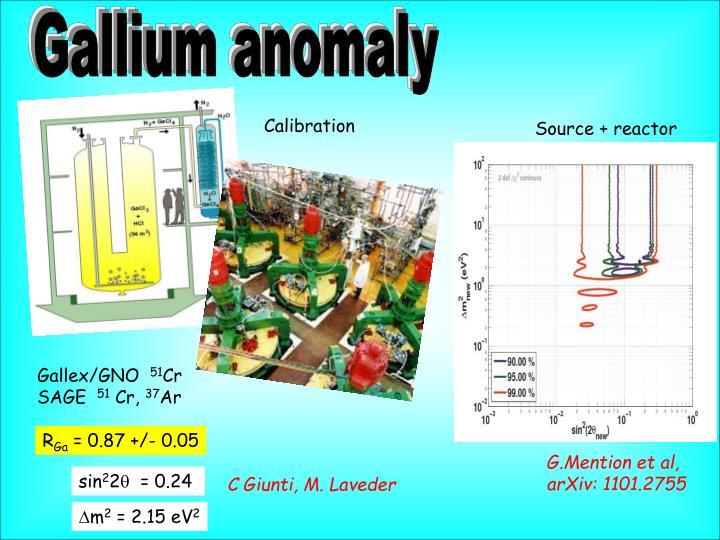 Gallium anomaly