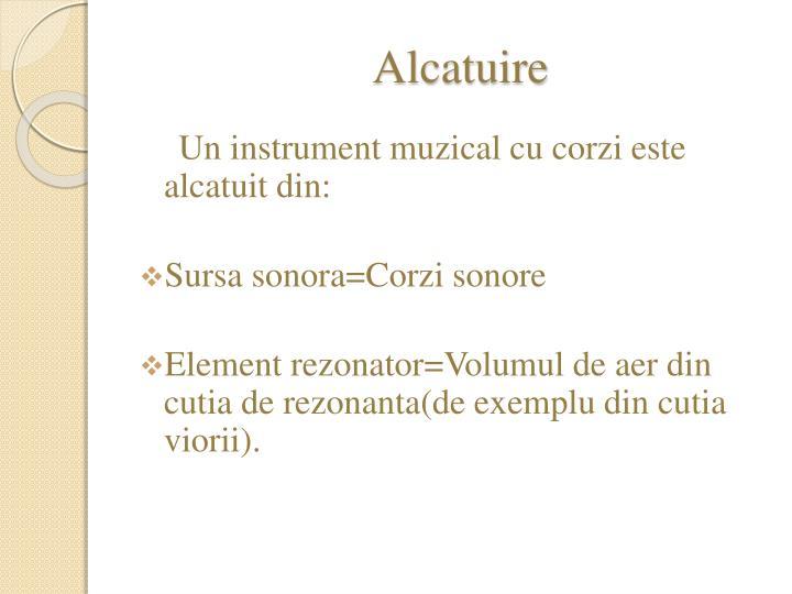 Alcatuire