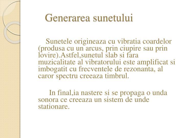 Generarea