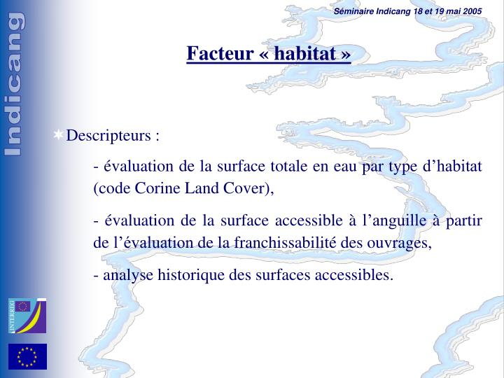 Facteur «habitat»