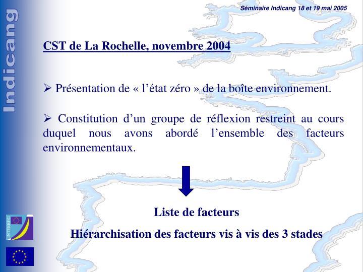 CST de La Rochelle, novembre 2004