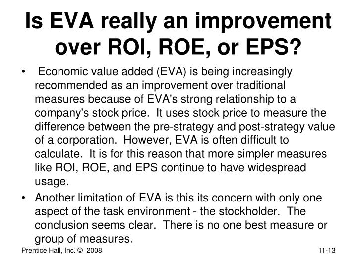 Is EVA really an improvement over ROI, ROE, or EPS?