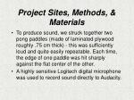 project sites methods materials1