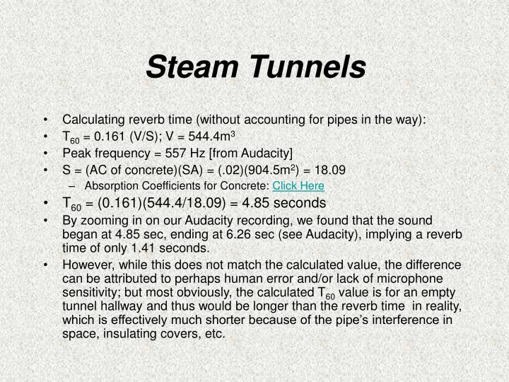 Steam Tunnels