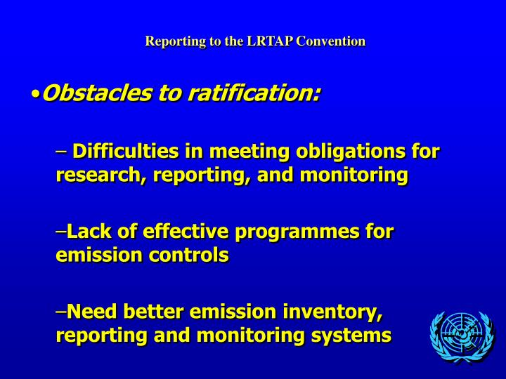 Reporting to the LRTAP Convention