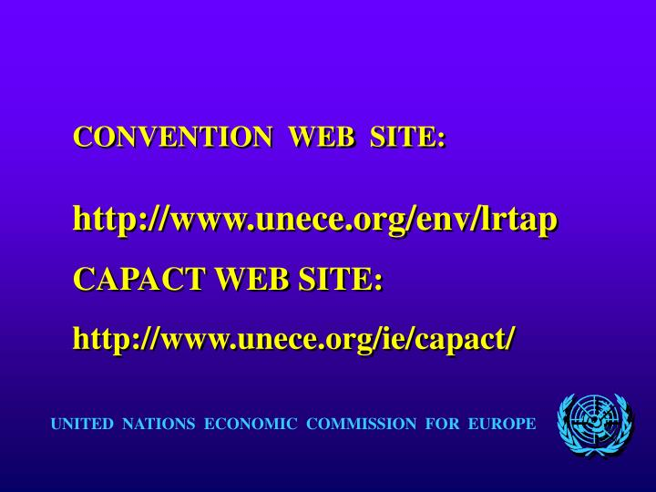 CONVENTION  WEB  SITE:
