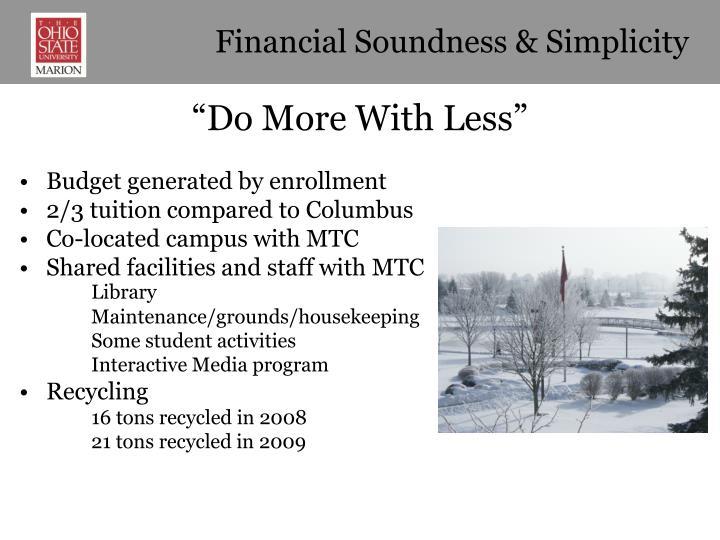 Financial Soundness & Simplicity