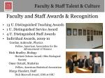 faculty and staff awards recognition