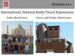 international national study travel experiences