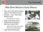 ohio state marion s early history
