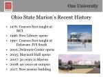 ohio state marion s recent history