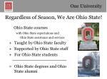 regardless of season we are ohio state