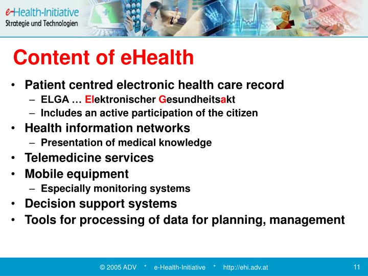 Content of eHealth