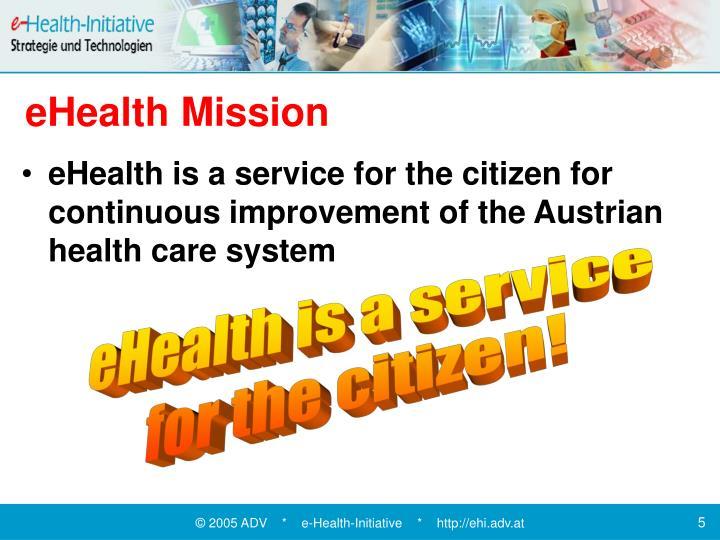 eHealth Mission