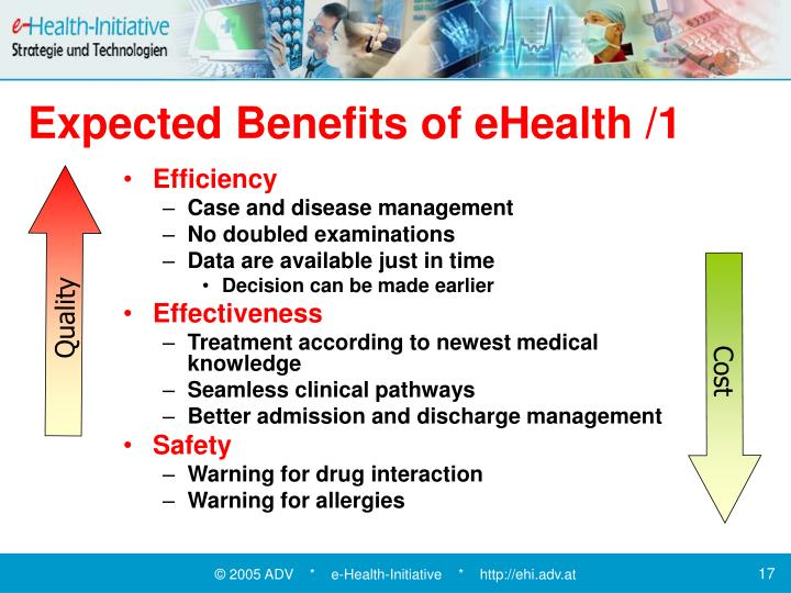Expected Benefits of eHealth /1