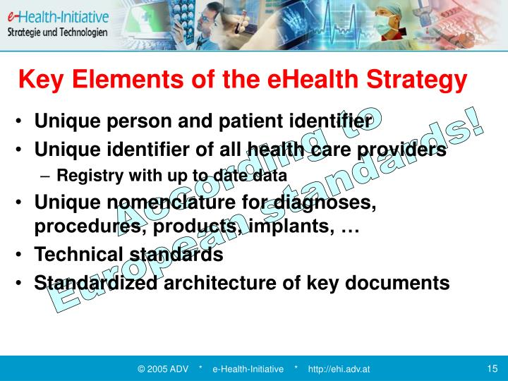 Key Elements of the eHealth Strategy