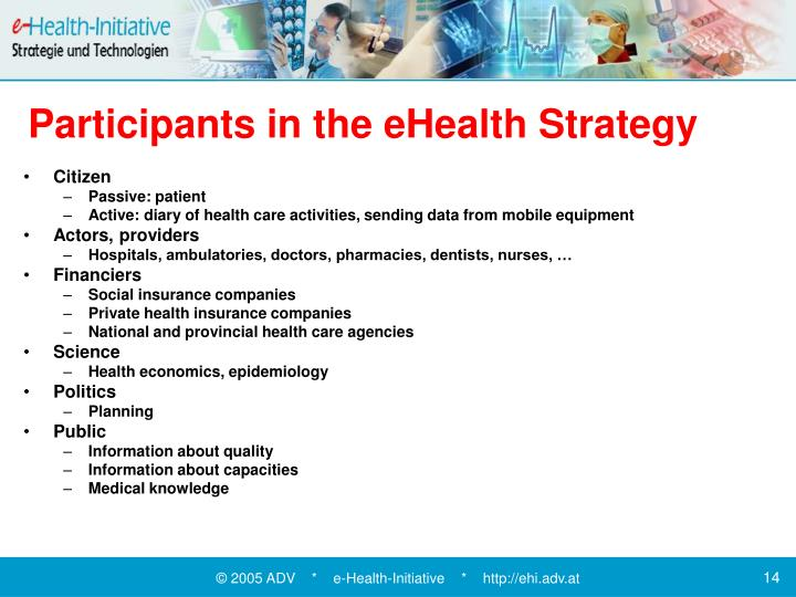 Participants in the eHealth Strategy