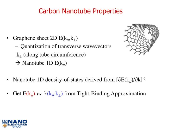 Carbon Nanotube Properties
