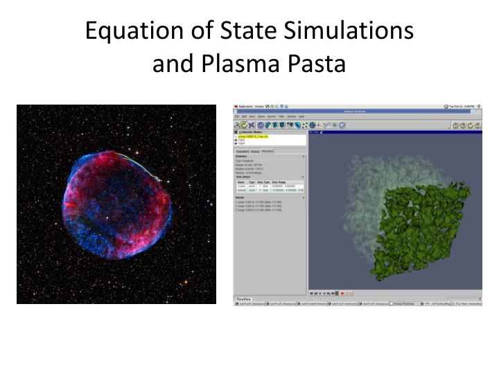 Equation of State Simulations