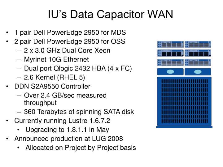 IU's Data Capacitor WAN