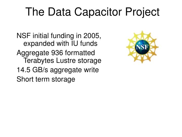 The Data Capacitor Project