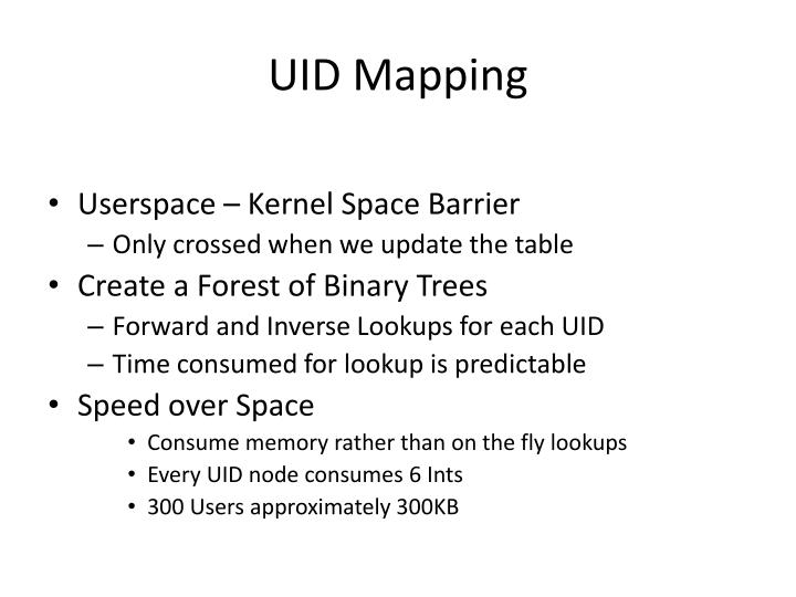 UID Mapping