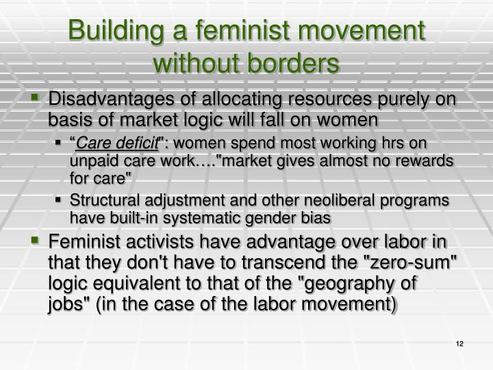 Building a feminist movement without borders
