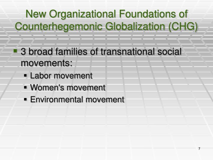 New Organizational Foundations of Counterhegemonic Globalization