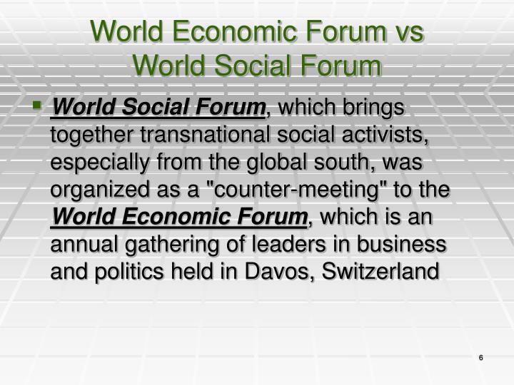 World Economic Forum vs