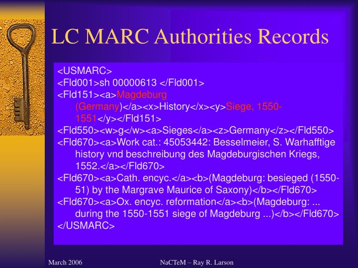 LC MARC Authorities Records