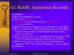 lc marc authorities records