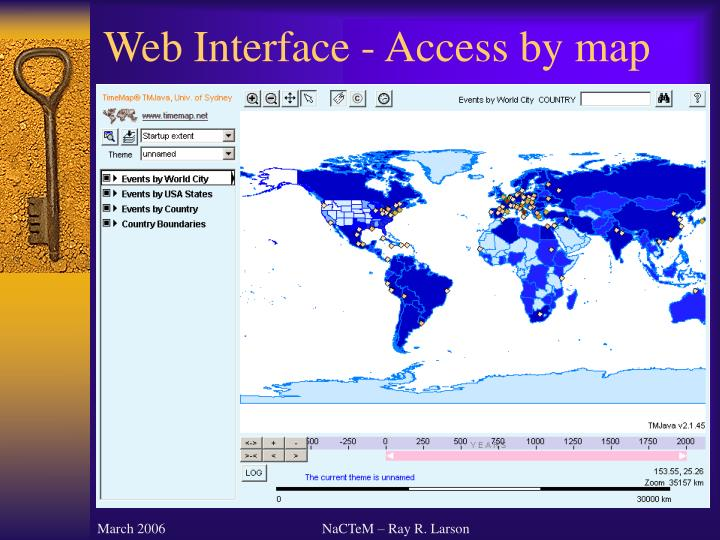 Web Interface - Access by map