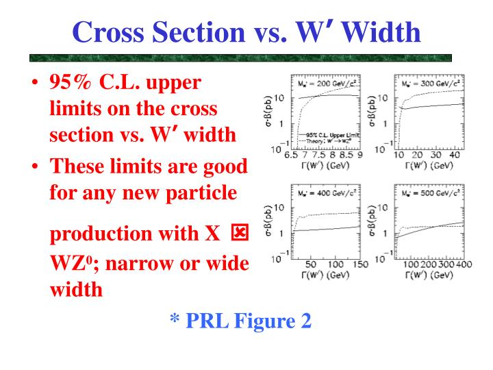Cross Section vs. W
